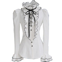 Free Shipping 2013 Fashion Korea Boho Style OL Basic Lace Long Sleeve White T Shirt Shirt