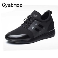 New Casual Comfortable Men's Height Increase Shoes Hidden Lift insole Taller 6cm/8cm for Young Man Sneakers