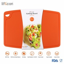 Liflicon Large Silicone Cutting Board Meat & Veggie Cut Prep Nonslip Flexible Chopping Boards Antimicrobial Thick