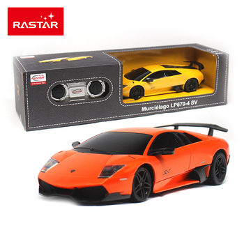Licensed Rastar 1:24 Remote Control Car Radio Control Toys RC Cars Toys For Children Boys Girls Gift Murcielago LP670-4 SV 39000 radio-controlled car