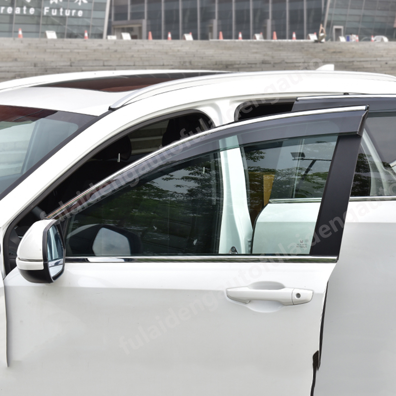 4PCS Window Visor Sun Rain Guard Vent Shade For Honda CRV CR-V 2017-2019