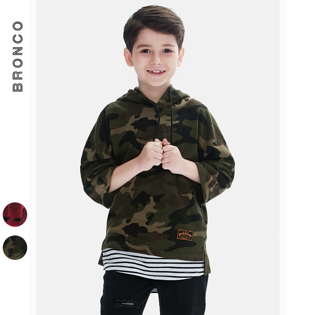 484de3d6 US $24.99 |2017 autumn brand clothing boys sweater camouflage sleeve head  large cap sweatshirts hat clothes boys kids cool army hoodies boy-in  Hoodies ...