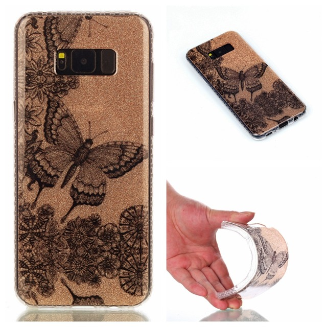 US $3 98 |Glitter Case For Samsung Galaxy S8 Case Silicone Cute Cartoon  Animal Crystal For Samsung S8 Plus Case Soft TPU Shockproof Cover on