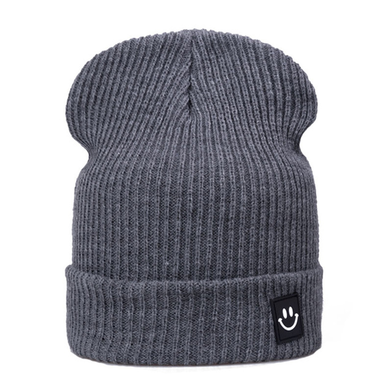 Winter Women Men Low-key Smile Hat Cotton Knitted Hats For Unisex Beanies Winter Caps Boys Girls Casual Gorro Skullies Bonnet fine three dimensional five star embroidery hat for women girls men boys knitted hats female autumn winter beanies skullies caps