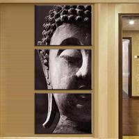 2016 New 3 pcs/set Still Life Painting Buddha Print on canvas Paintings the Mottled Buddha Face Wall Art Home Decor