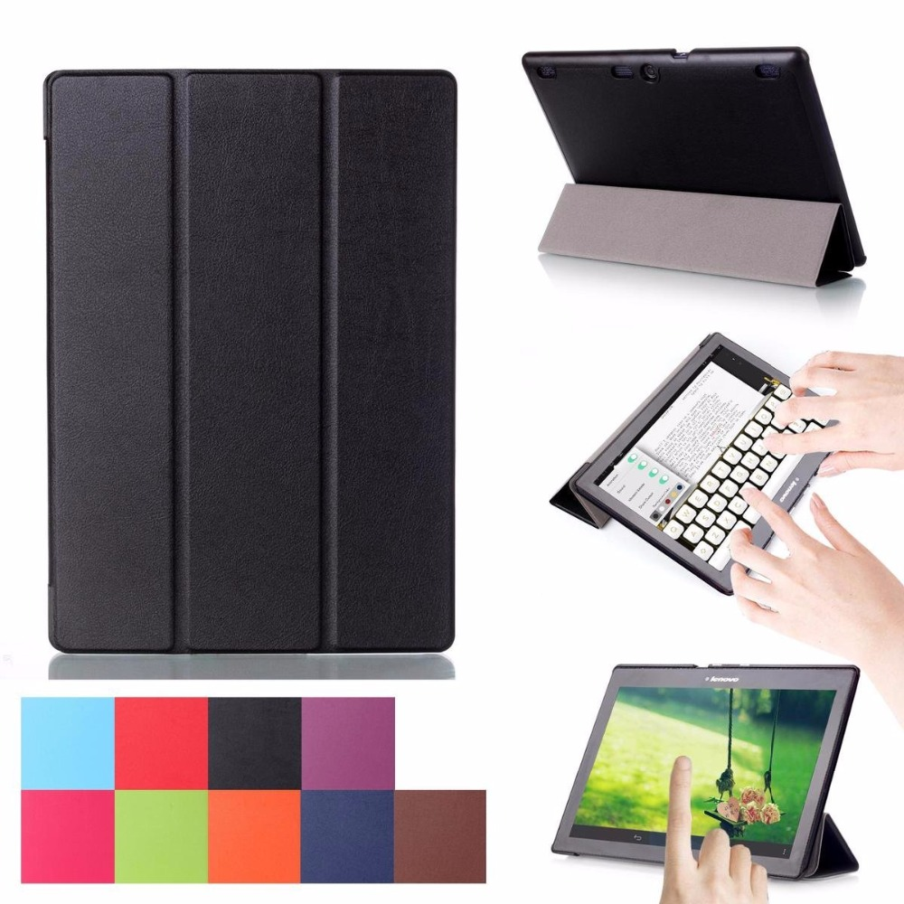 Tampa Do caso para Lenovo Tab 2 A10-30 Inteligente Case Capa Stand Case para Tab Lenovo 2 A10-70 TB2-X30F TB2-X30L Funda caso Capa + Caneta
