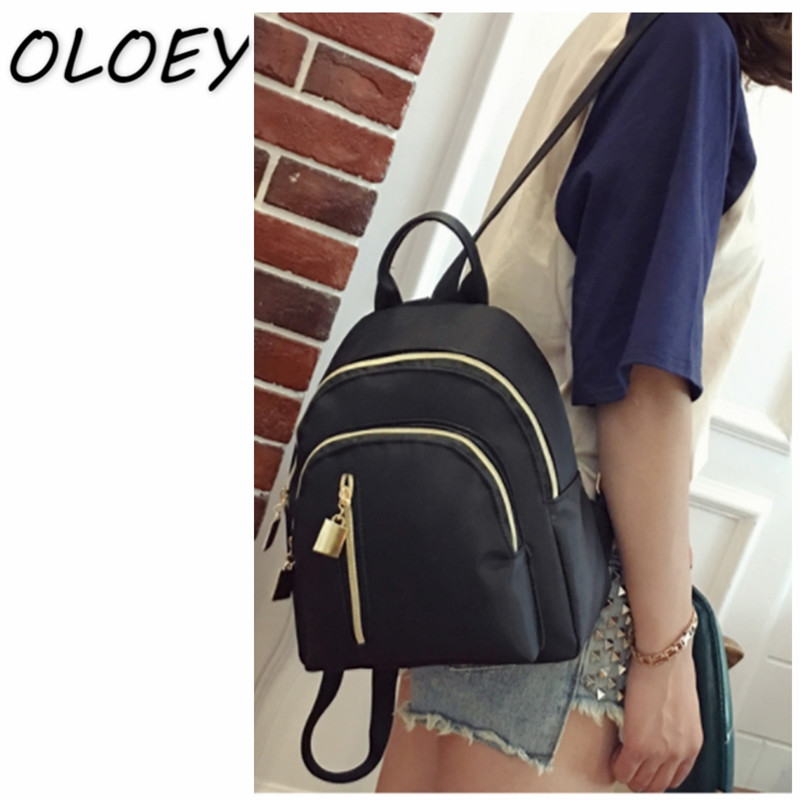 Women Mini Backpack Oxford Female Casual Solid Bag Oxford Cloth Waterproof Bag Portable Travel Bag Teenage Schoolbag oxford borboniqua oxford