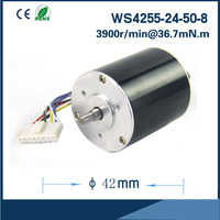 Ultra Long Life Reliable neodymium permanent magnet motor 5000rpm 24V 42mm Brushless DC Motor for DC FAN Air pump or gear box