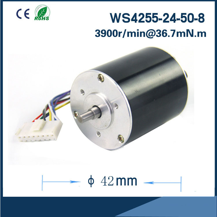 Ultra Long Life Reliable neodymium permanent magnet motor 5000rpm 24V 42mm Brushless DC Motor for DC FAN Air pump or gear box 13000rpm 73w 24v 3 33a 42mm 55mm 3 phase hall brushless dc micro motor high speed dc motor for fan air pump or gear box