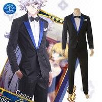 Japan Anime Costume Fate/Grand Order Caster Merlin Cosplay Costume Men Halloween Avalon Celebration Uniform Men Suit Custom made