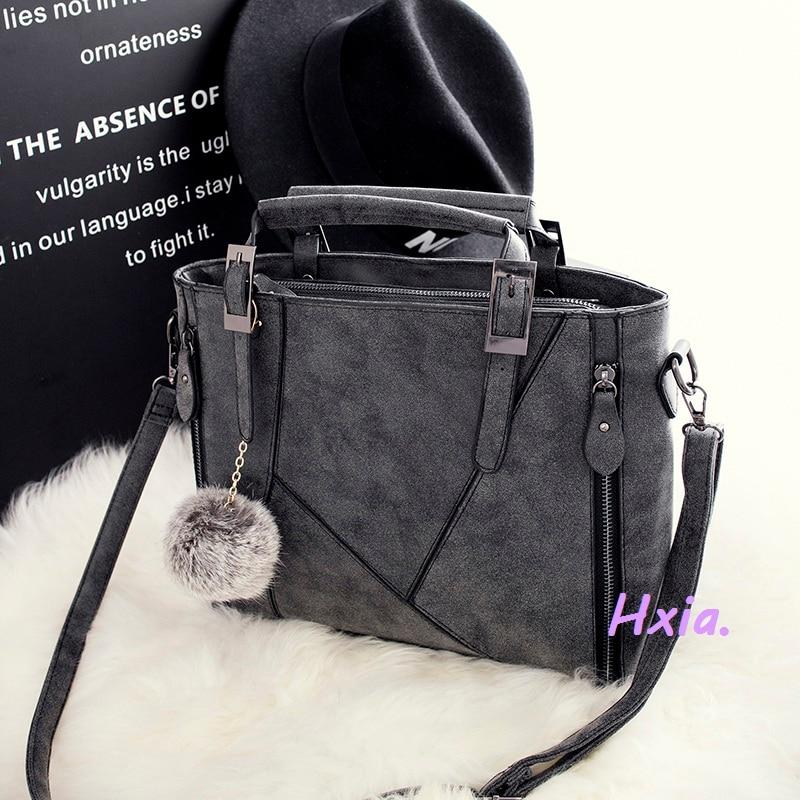 Free shipping, 2018 new fashion handbags, casual shoulder bag, European and American fashion messenger bag, matte strap handbags