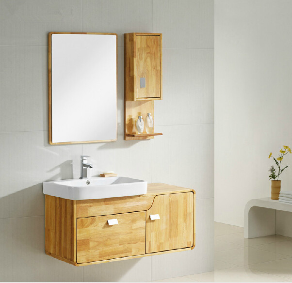 Modern Mdf Knock Down Bathroom Vanity Cabinet For Hotel In