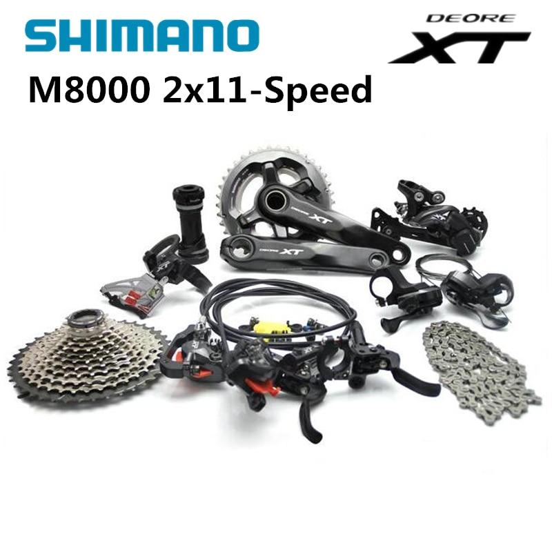 Shimano DEORE XT M8000 2x11 22 s Скорость MTB Горный набор велосипедных компонентов 38/28 Т 36/26 т 170 мм 11-42 т