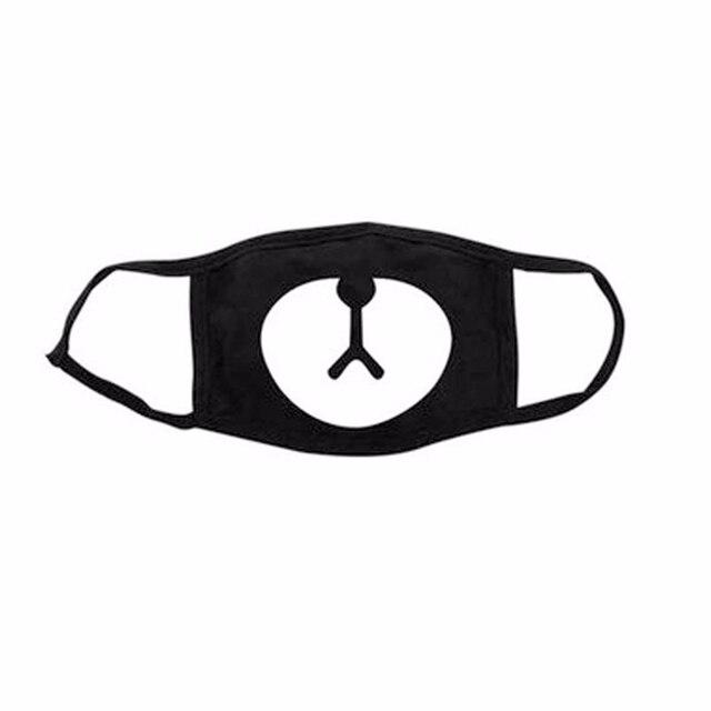 1Pcs Kpop Purge Maskers Mond Unisex Bangtan Jongens Nieuwe Gezicht Moffel Gasmasker Katoen Mannen Vrouwen Party Maskers Mode Leuke panda Masker