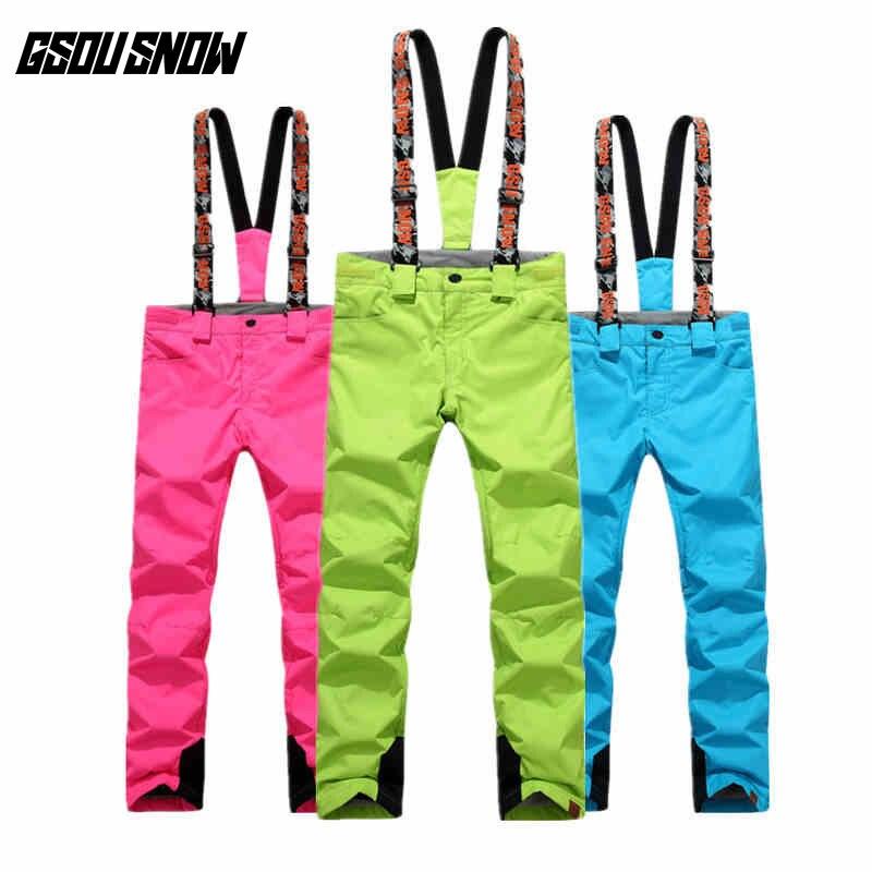 GSOU SNOW Double planche simple pantalon de Ski pour femme hiver extérieur imperméable chaud épaissi coupe-vent pantalon de Ski taille XS-L
