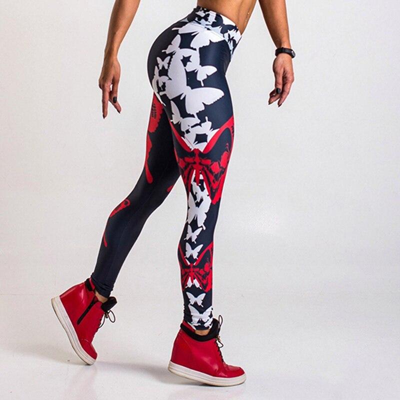 2018 Для женщин Фитнес леггинсы модные Высокая талия эластичный тонкий спортивных push up леггинсы Gym Спорт Бег упражнения штаны для йоги