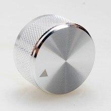 1Pcs High Quality Aluminum  Knob  Potentiometer Knob Audio Volume Knob Encoder Knob 30 * 17 Mm – Silver