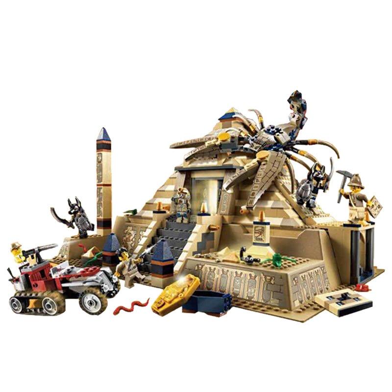 Lepin 31001 822Pcs Egypt Pharaoh Series The Scorpion Pyramid Building Blocks Bricks Gifts Compatible 7327 DIY toys for Children eglo 31001