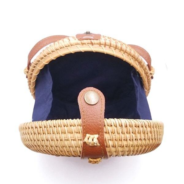 verão rattan saco feito à mão tecido