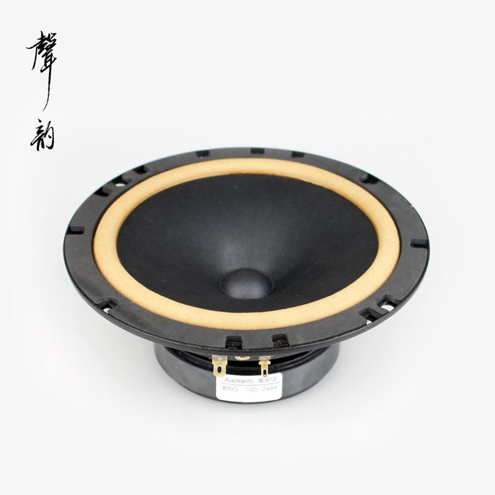 2018 Aucharm New 6Q 6.5inch Car Audio Speaker Driver Unit Leather Surround 4ohm 20W Round Frame