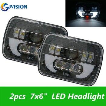 6x7'' LED Headlight Sealed Beam Halo DRL Bulbs  for Jeep Wrangler YJ Cherokee XJ Trucks 4X4 Offroad H6014 / H6052 / H6054 / 6054