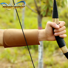 Archery Equipment Cowhide Arm Guard Safe Adjustable Bow and Arrow Protection
