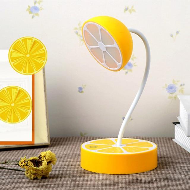 Fashion Lemon Lamp LED Eye Protection Lamp Folding Learning Desk Lamp USB  Charging Night Light Bedside