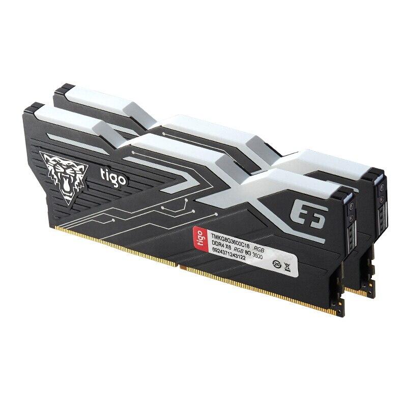 Tigo Desktop Gaming Memory DDR4 RGB RAM 16GB 3200 MHz LED Light PC Memoria for Gamer DIMM 8GB x2