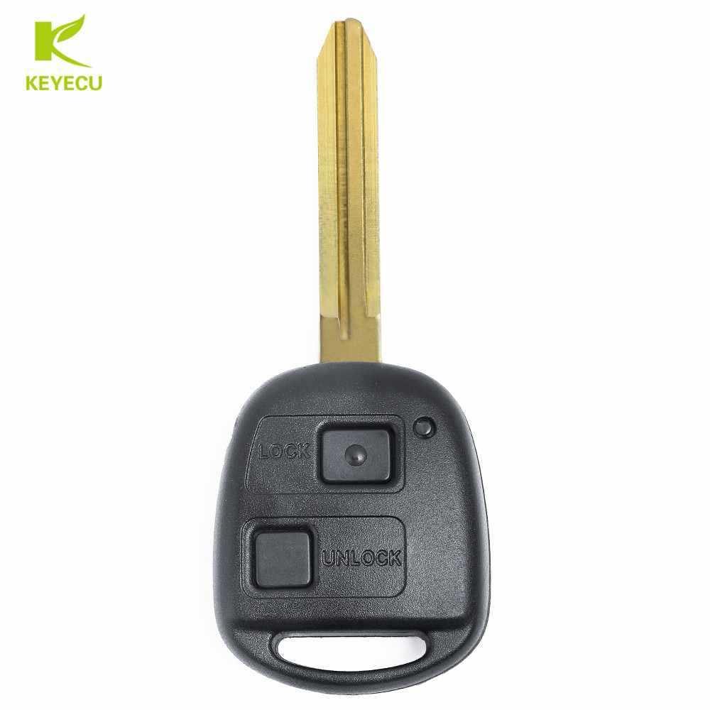 KEYECU Replacement New Remote Car Key Fob 2 Button 433MHz 4D68 Chip for Toyota RAV4 Prado Tarago P/N: 50171-in Car Key from Automobiles & Motorcycles    2