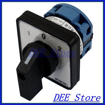 4 Screw Terminals on-off-on Rotary Selector Combination Switch AC 660V 20A ith 20a 8 screw terminals rotary combination cam switch
