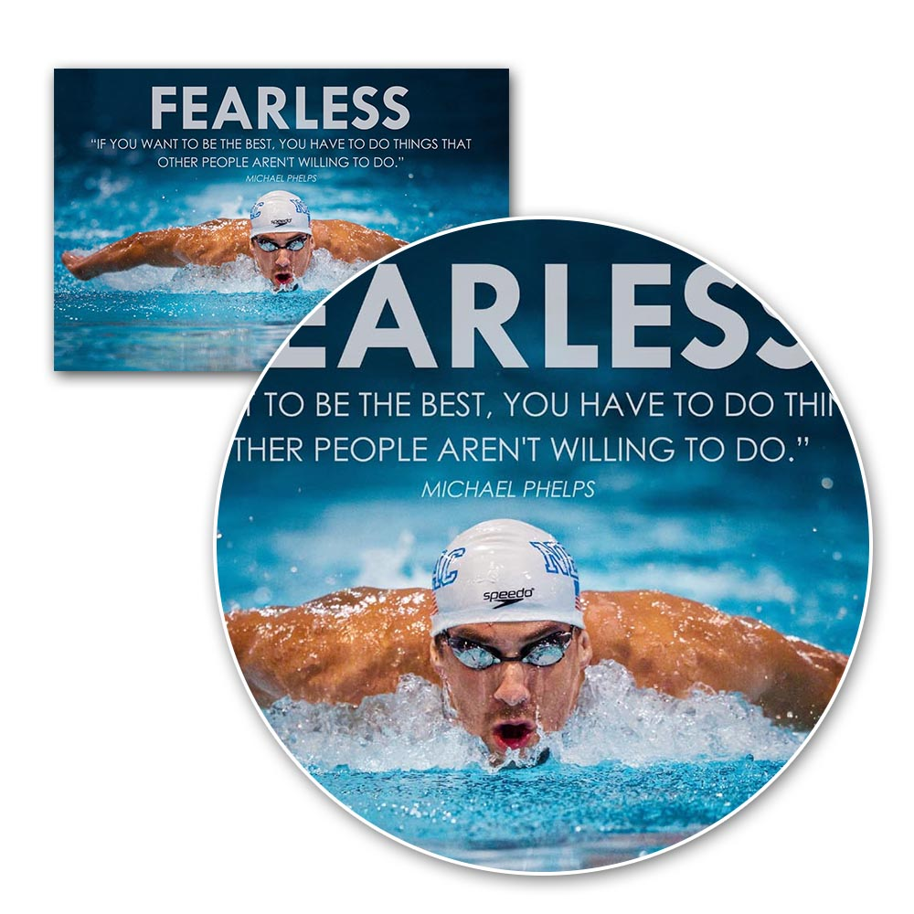 Swimming Sports Michael Phelps Poster Wall Art Silk Fabric Or Canvas ...