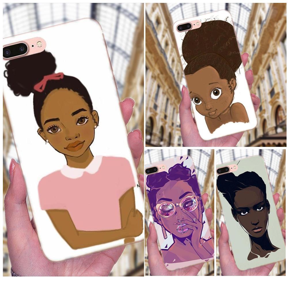 Cell Phone Case For LG G4 G5 G6 K4 K7 K8 K10 2017 V10 V20 V30 Stylus Nexus 5 5X G2 G3 Mini Spirit Melanin Poppin Black Girl