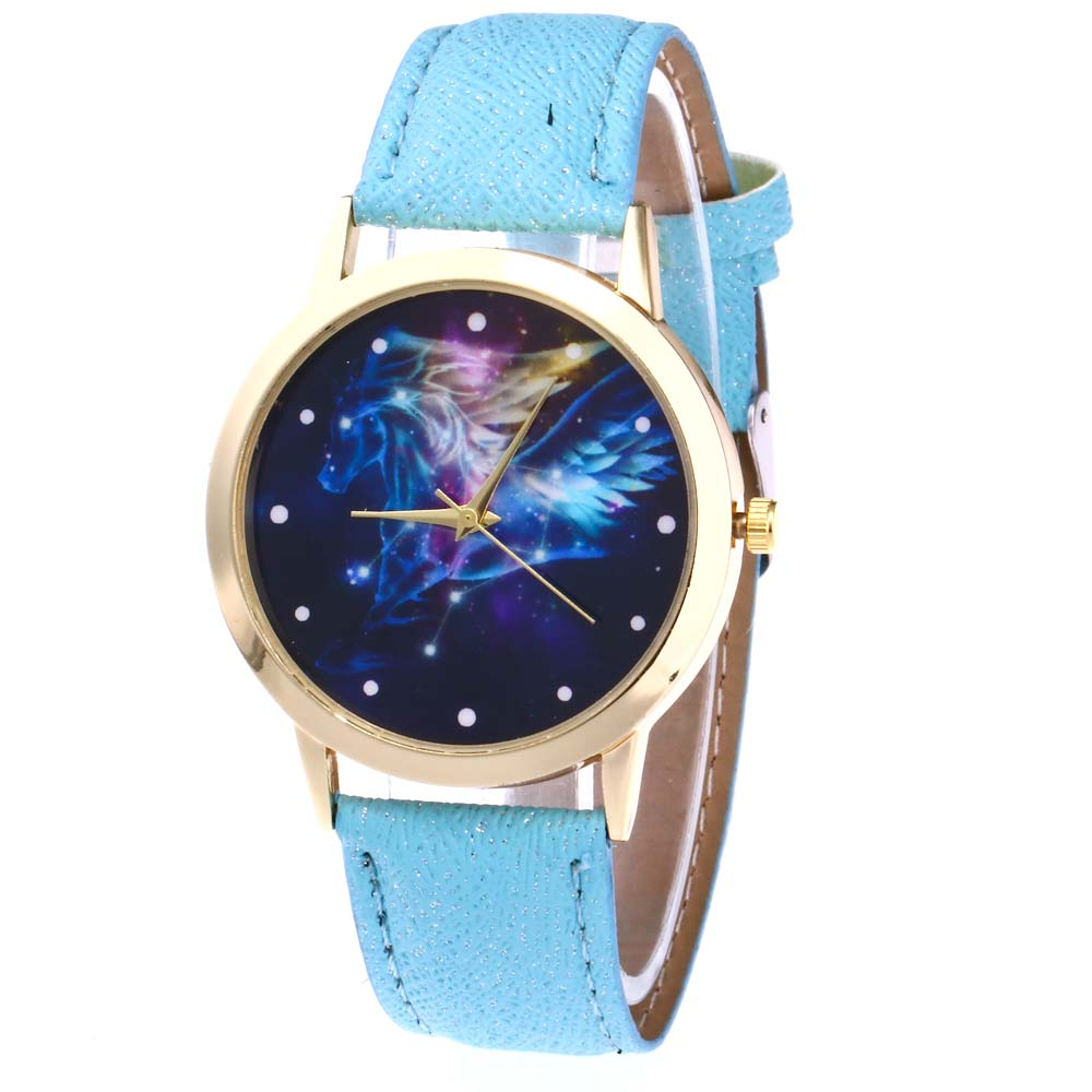 Women Jewelry Quartz Watch Starry Sky Space Watches PU Leather Wristwatch Clock Birthday Gift For Lover LL@17 gaiety g385 women s starry sky face leather band quartz watch