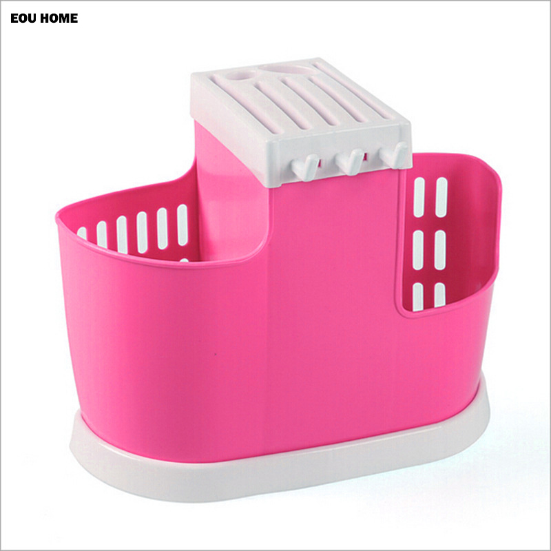 Multifunctional Plastic Tableware Knife Blocks Kitchen Finishing Drain Chopsticks Bracket Kitchen Accessories