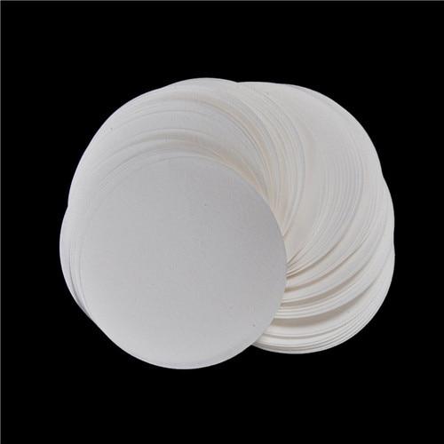 100PCS/bag 7cm Medium Filter Paper Laboratory Filter Paper Medium Speed Funnel Filter Paper Circular Qualitative Filter Paper