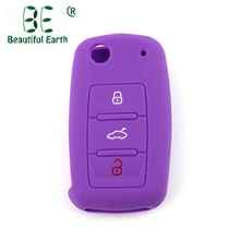 eb29b3f1531b 2018 Silicone Car Styling Key Bag Case Key Cover 3 buttons For Volkswagen  polo passat b5