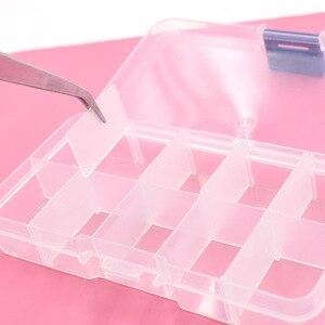 Image 4 - 5pcs 단추 eyelets 저장 조정 가능한 플라스틱 10/15 구획 저장 상자 보석 귀걸이 상자 상자 저장 상자