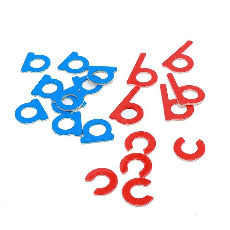 Bébé Jouet Montessori Bois Petit Alphabet Mobile Rouge et Bleu avec la Boîte Préscolaire Précoce Enfant Brinquedos Juguetes - 5