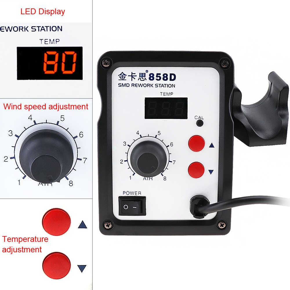 Kaisi-858D Новинка 220 В 700 Вт SMD паяльная станция горячего воздуха поддержка светодиодный цифровой дисплей и управляемая температура + 3 воздушные насадки