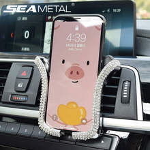 Rhinestones Crystal Car Phone Holder Air Outlet Vent Support Phone Dia