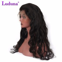 Luduna Brazilian Body Wave 360 Lace Front Human Hair Wigs With Natural Hairline Brazilian Remy Hair Wig Free Shipping