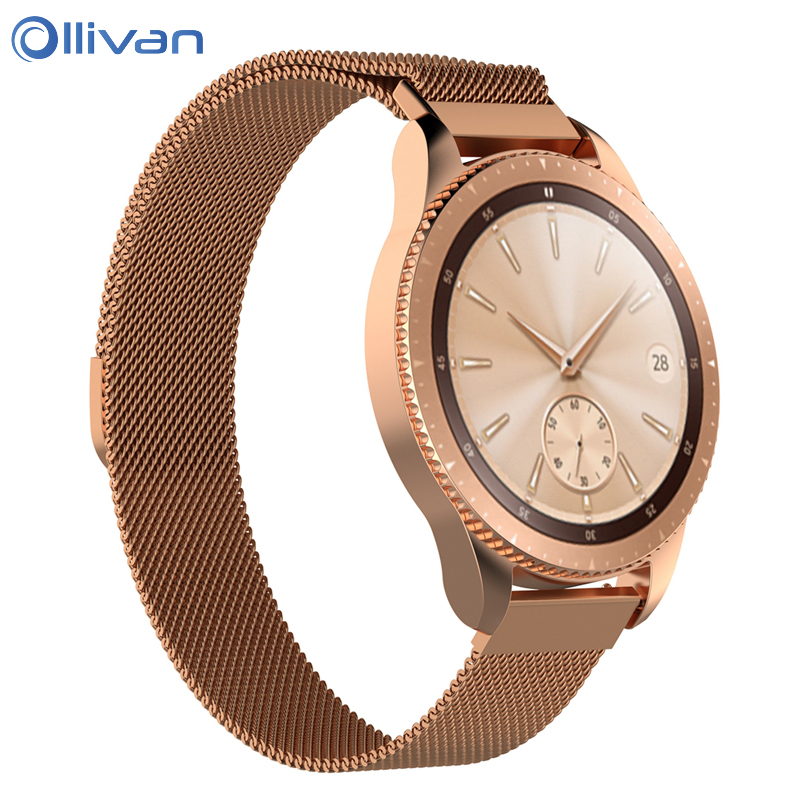 Us 668 26 Offmilanese Magnetic Stainless Steel Band For Samsung Galaxy Watch 42mm 46mm Smart Wristband Strap Metal Gold Rose Gold Watch Band In