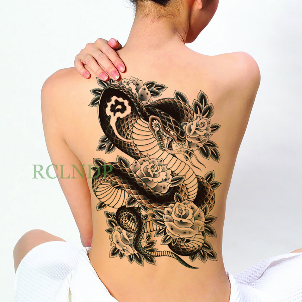 Sexy Dragon Lion God Waterproof Large Temporary Tattoo Stickers Men Women  Full Back Leg Chest Fake Body Art Transferable Tattoos