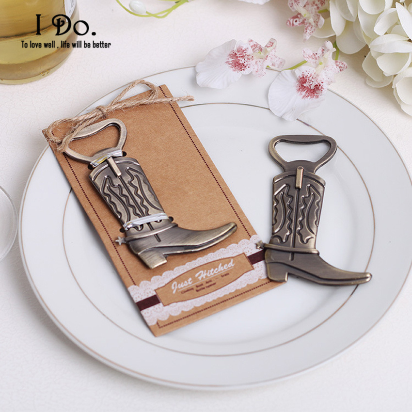 Free Shipping Cowboy Boot Bottle Opener Wedding Favors And Gifts Wedding Supplies Wedding Souvenirs Wedding Gifts - Boots Wedding Gifts