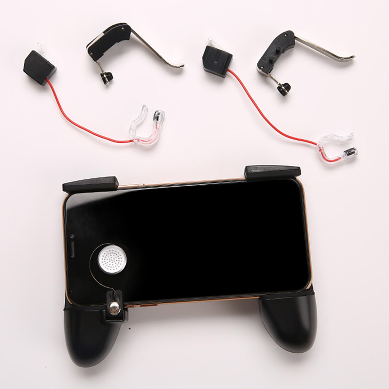 Image 5 - Six finger linkage PUBG Mobile Game Controller Gamepad Trigger Fire Button Aim Button L1 R1 Shooter Joystick For iphone Android-in Gamepads from Consumer Electronics