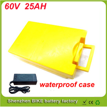 ebike lithium battery 60v 25ah bicycle 60v electric scooter battery for kit electric bike with waterproof case For Samsung cell