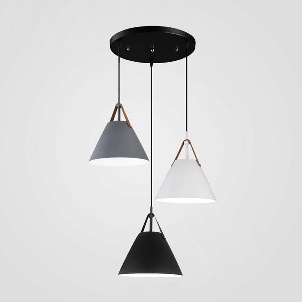 Nordic Restaurant Pendant Lights LED Handlamp Indoor Dinning Room Lamp Home Lighting Single-Three Heads Lamparas E27 AC110-220V