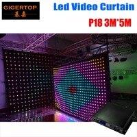 Бесплатная доставка p18 3 м * 5 м SD карты от линии контроллер led vision Шторы, светодиодные видение ткань, свадьбу showversion 180 мм шаг