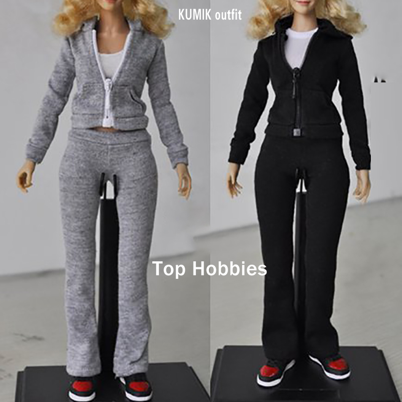 jiaou doll 1 6 scale female clothing sports Suit Set items Women's clothing Kumik 1/6 Outfit-6/Outfit-5 W 2.5 Female Doll Body kumik kmf029 1 6 comic version catwoman with two head shape12inch male doll set of end product