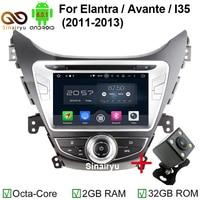 1024 600 Eight Core Android 6 0 Car Radio For Hyundai Elantra AVANTE I35 2011 2012